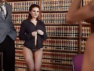 babe hardcore hot milf office threesome
