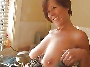 amateur juicy kitchen mature milf